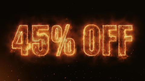 45% OFF Text Electric Energy Revealed Hot Glowing Burning Fire Motion Background Animation