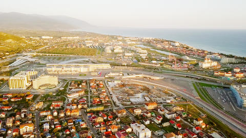 Panorama of Olympic Park in Sochi, the venue of the 2014 Olympics, the 2018 FIFA ビデオ