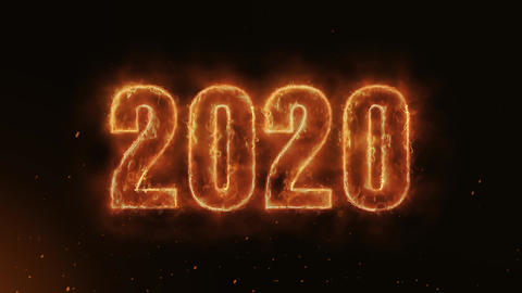 2020 Text Electric Energy Revealed Hot Glowing Burning Fire Motion Background Animation