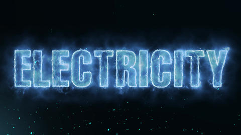 electricity Text Electric Energy Revealed Hot Glowing Burning Fire Motion Animation
