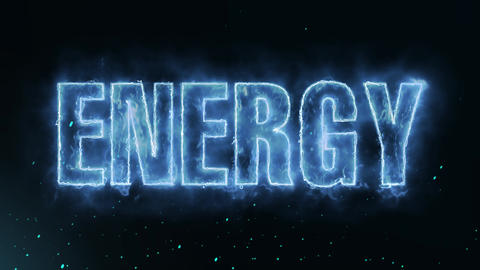 Energy Text Electric Energy Revealed Hot Glowing Burning Fire Motion Background Animation