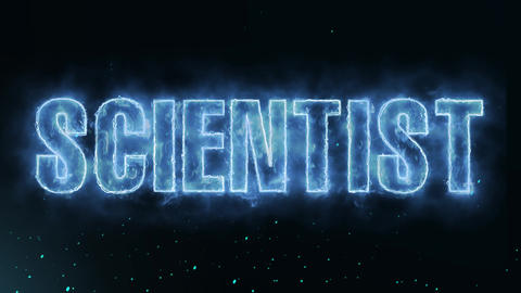 scientist Text Electric Energy Revealed Hot Glowing Burning Fire Motion Animation
