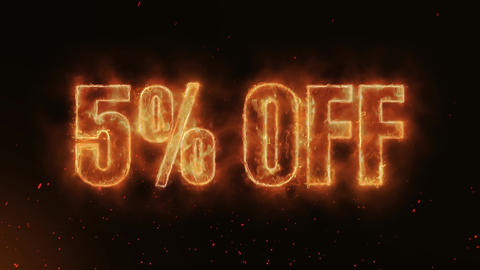 5% OFF Word Hot Burning on Realistic Fire Flames continuous seamlessly loop Animation