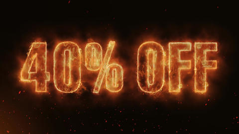 40% OFF Word Hot Burning on Realistic Fire Flames continuous seamlessly loop Animation