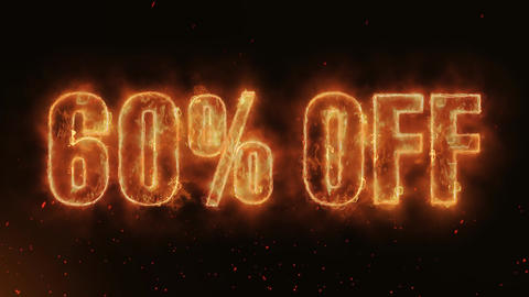 60 % OFF Word Hot Burning on Realistic Fire Flames continuous seamlessly loop Animation