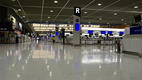 Narita Airport Terminal 2 in the night Footage