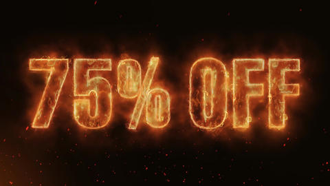 75% OFF Word Hot Burning on Realistic Fire Flames continuous seamlessly loop Animation