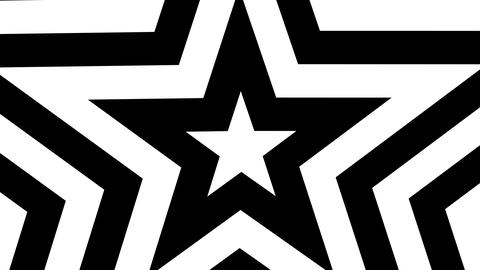 Five point star black and white mask animated grows. Seamless loop shape star Footage