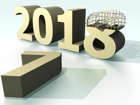 Year 2018 Gold Photo