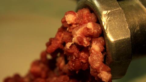 old meat grinder scrolls meat Footage
