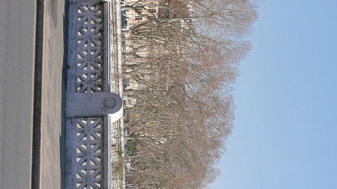 Vertical video. Bridge Mazzini. Rome, Italy - February 18, 2015: bridge was Footage