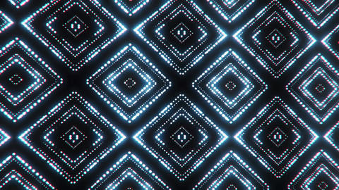 White Bluish Led Particles Squares Abstract VJ Loop Motion Background Animación