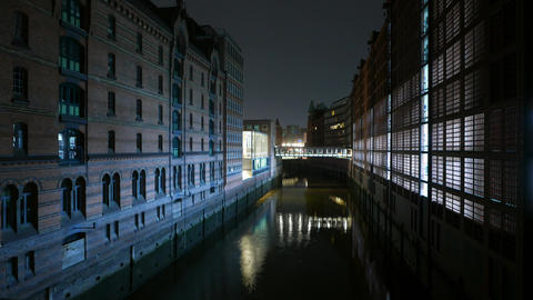 Old Warehouses at Hafencity Hamburg Footage