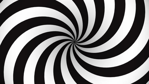 Black and white rotating hypnosis spiral Animation