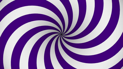 Purple and white rotating hypnosis spiral Animation