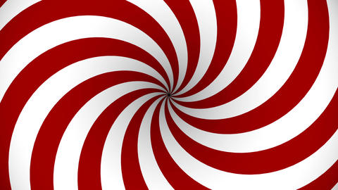 Red and white rotating hypnosis spiral Animation