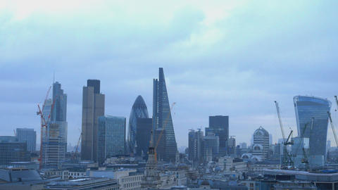 Famous buildings in the City of London Live Action