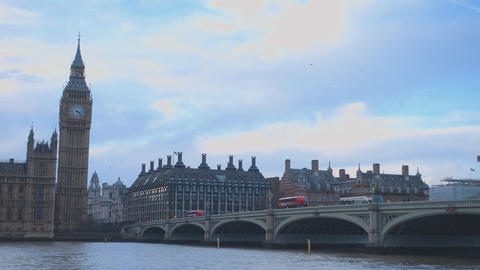 Big Ben and Westminster Bridge London Live Action