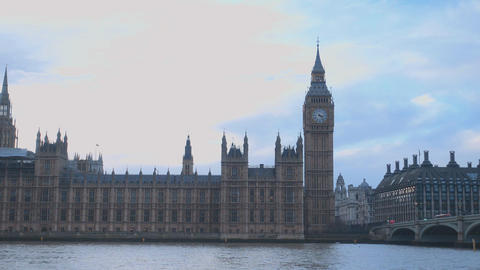 Westminster London - The Houses of Parliament Live Action