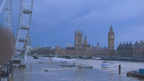 The Houses of Parliament - London skyline Live Action