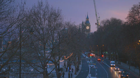 Big Ben London in the evening Live Action