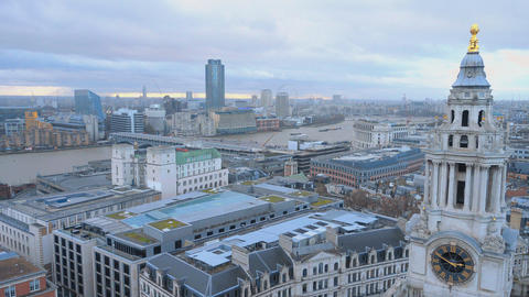 London aerial view from St. Paul's Live Action