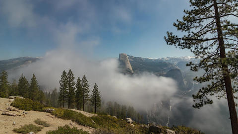 Half Dome Yosemite National Park Timelapse Footage