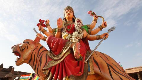 Durga Statue Footage