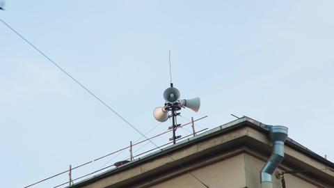 Loudspeaker On The Roof Footage