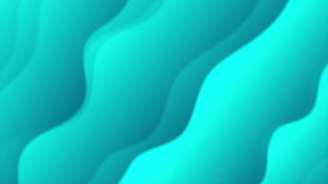Bright turquoise abstract wavy video animation Animation