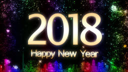 Happy New Year 2018 Animación