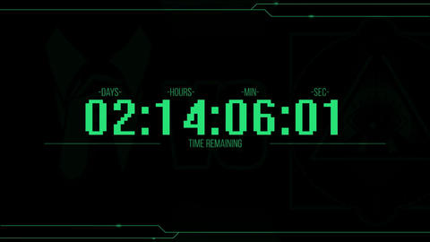 Purge Countdown Clock After Effects Template