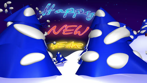 Happy New Year ident CG動画素材