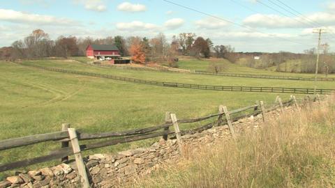 Hd farms countryside autumn farm Footage