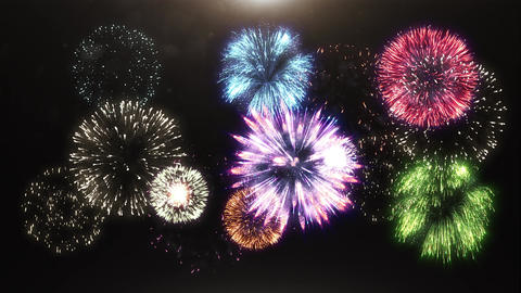 3D animation of fireworks Animation