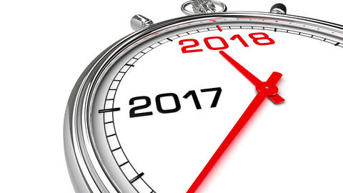New Year 2018 Clock (with Matte) Animation