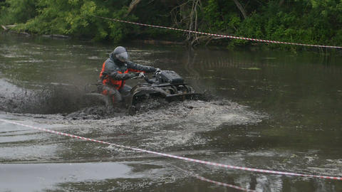 ATV Ride through the Swamp, Water, Dirt and mud Footage