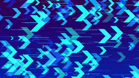 Arrow flowing horizontally CG動画