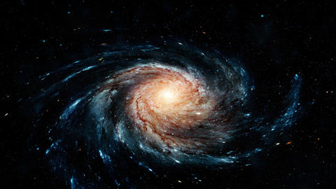 Flight near a rotating spiral galaxy. Abstract Loopable... 스톡 비디오 클립, 영상 소스, 스톡 4K 영상