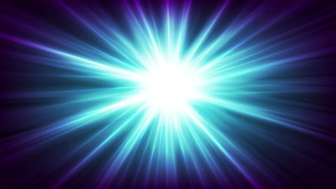Blue glowing shiny beams abstract video animation Animation