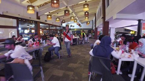Interior of Velana International Airport's main passenger terminal. Maldives Footage