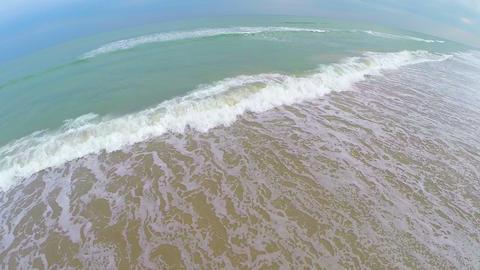 Ocean tide rolling waves aerial Live Action