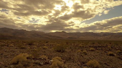 Sunny cloudy sky in death valley Footage