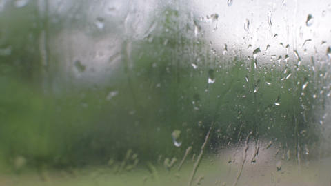 Rain on glass Footage