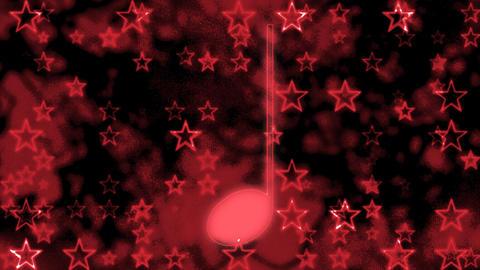 Glowing music note dark Footage