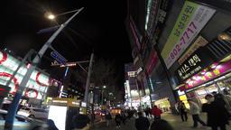 Night View of Seomyeon, Busan, South Korea, Asia 영상물