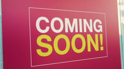 Coming soon sign Footage