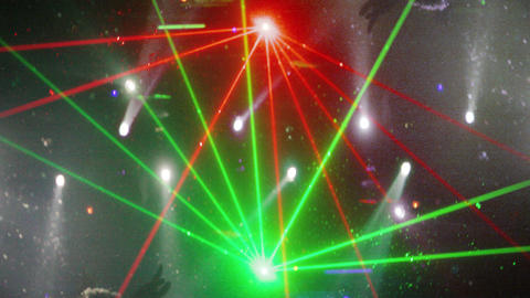 Strobing concerts laser lights Footage