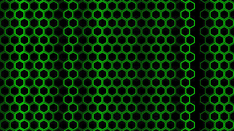 Hexagon Background CG動画素材
