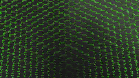 Wall of glowing hexagons Animation